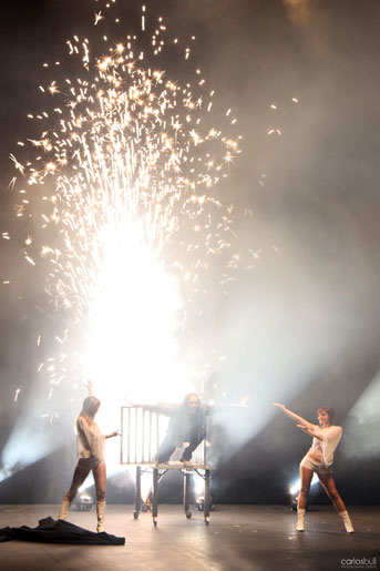 illusionist edama on fire